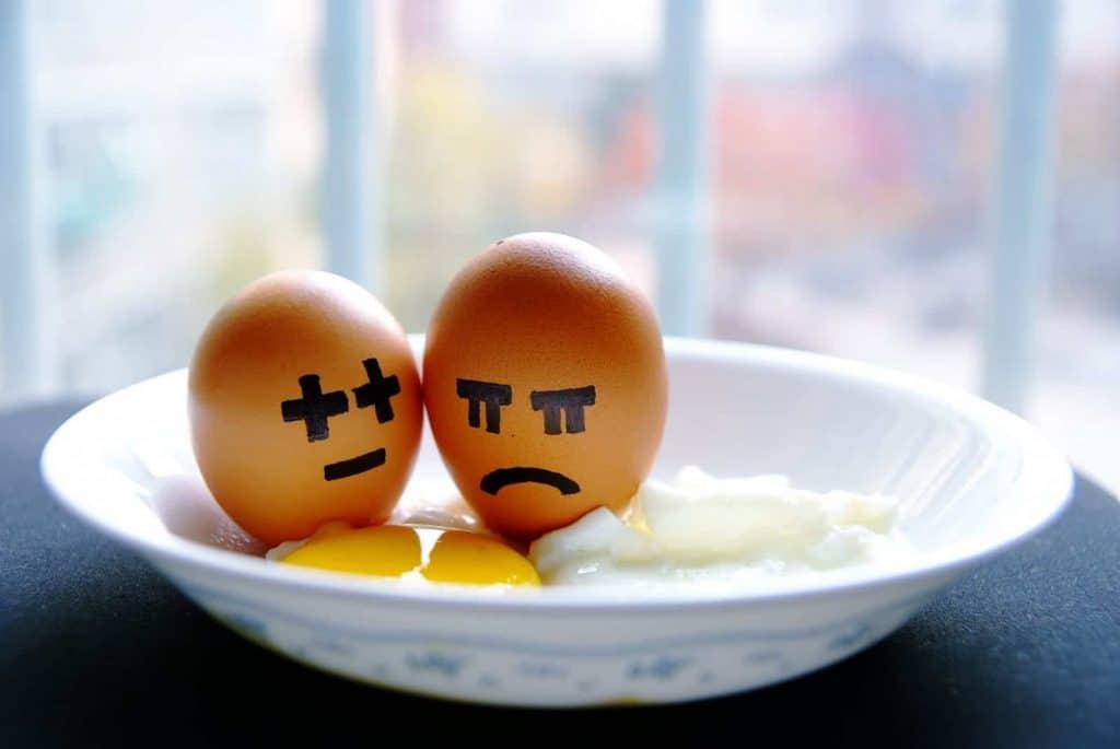 funny eggs, bowl